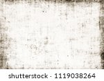 dirty edges obsolete ragged... | Shutterstock . vector #1119038264