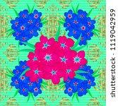 exquisite pattern of primrose...   Shutterstock .eps vector #1119042959