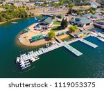 sacramento state aquatic center | Shutterstock . vector #1119053375