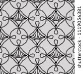 lace seamless pattern crochet... | Shutterstock . vector #1119056381