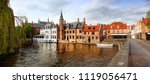 panoramic of the charming and... | Shutterstock . vector #1119056471