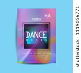 electronic dance music cover... | Shutterstock .eps vector #1119056771