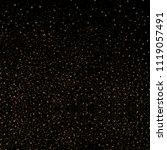 gold glitter texture on a black ... | Shutterstock .eps vector #1119057491