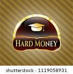 gold shiny badge with... | Shutterstock .eps vector #1119058931