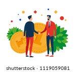 men on the background of money... | Shutterstock .eps vector #1119059081