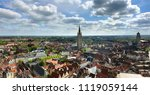 panoramic view from the belfry... | Shutterstock . vector #1119059144