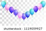 vibrant realistic helium vector ... | Shutterstock .eps vector #1119059927
