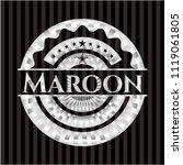 maroon silvery shiny emblem | Shutterstock .eps vector #1119061805