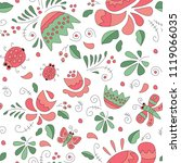 seamless pattern with flowers   Shutterstock .eps vector #1119066035