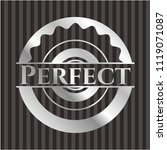 perfect silvery shiny emblem   Shutterstock .eps vector #1119071087