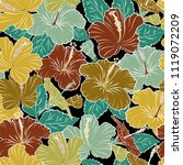 floral background. seamless...   Shutterstock .eps vector #1119072209