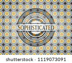 sophisticated arabic badge...   Shutterstock .eps vector #1119073091