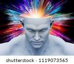 brain fog. 3d illustration of...   Shutterstock . vector #1119073565