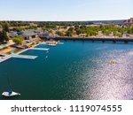 aerial drone view of sacramento ... | Shutterstock . vector #1119074555