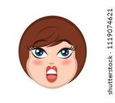 portrait of the amused girl in... | Shutterstock .eps vector #1119074621