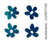 flowers in gradient mesh ...   Shutterstock .eps vector #1119077735