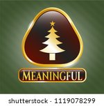 gold shiny badge with... | Shutterstock .eps vector #1119078299
