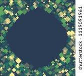 rhombus retro minimal geometric ... | Shutterstock .eps vector #1119091961