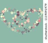 rhombus minimal geometric cover ... | Shutterstock .eps vector #1119091979
