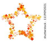rhombus cover minimal geometric ... | Shutterstock .eps vector #1119092021