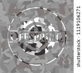offspring on grey camo texture   Shutterstock .eps vector #1119106271