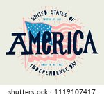 fourth of july vintage american ... | Shutterstock .eps vector #1119107417
