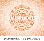 question orange mosaic emblem... | Shutterstock .eps vector #1119109571