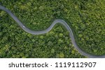 Aerial View Of Forest Road At...