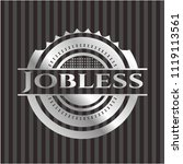jobless silvery badge | Shutterstock .eps vector #1119113561