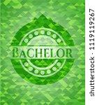 bachelor realistic green emblem....   Shutterstock .eps vector #1119119267