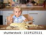 little baby boy  toddler child  ... | Shutterstock . vector #1119125111
