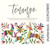 colorful mexican traditional...   Shutterstock .eps vector #1119125855