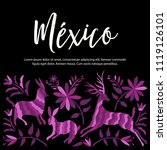 colorful mexican traditional...   Shutterstock .eps vector #1119126101
