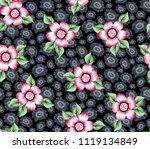 cute stock vector flowers...   Shutterstock .eps vector #1119134849