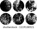 set of grunge textures in black ... | Shutterstock .eps vector #1119138521