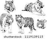 set of vector drawings on the... | Shutterstock .eps vector #1119139115