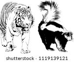 set of vector drawings on the... | Shutterstock .eps vector #1119139121