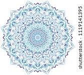 beautiful flower mandala  ...   Shutterstock .eps vector #1119141395