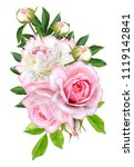 flower composition. a bouquet... | Shutterstock . vector #1119142841