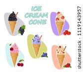 set of different ice cream.... | Shutterstock .eps vector #1119143957