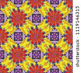 abstract floral textile print...   Shutterstock .eps vector #1119146315