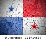 the panama flag painted on... | Shutterstock . vector #111914699
