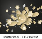 christmas background with white ... | Shutterstock .eps vector #1119150455