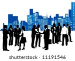 business people and city | Shutterstock .eps vector #11191546