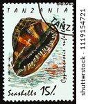 tanzania   circa 1992  a stamp... | Shutterstock . vector #1119154721