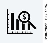 dollar analysis bars chart... | Shutterstock .eps vector #1119154757