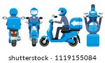 delivery everything service... | Shutterstock .eps vector #1119155084
