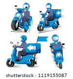 speed delivery everything... | Shutterstock .eps vector #1119155087