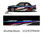 car livery graphic vector.... | Shutterstock .eps vector #1119159644
