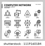 computer network icon set | Shutterstock .eps vector #1119160184